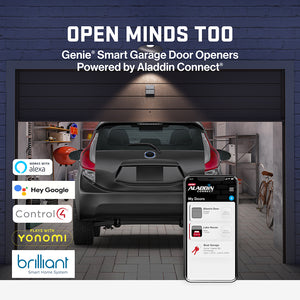 Genie Smart garage door openers Powered by Aladdin Connect work with Smart Home partners