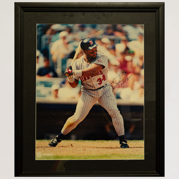 "Kirby Puckett Autographed Photo Framed with ""HoF 2001"" Inscribed"
