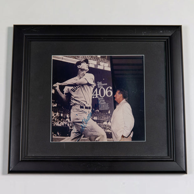 Ted Williams Autographed Photo of His .406 batting season