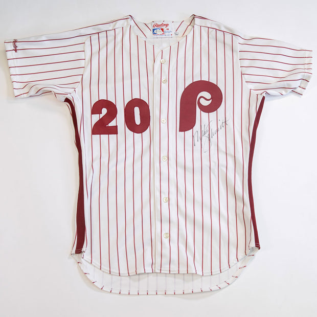 Mike Schmidt Philadelphia Phillies Autographed Rawlings White Jersey