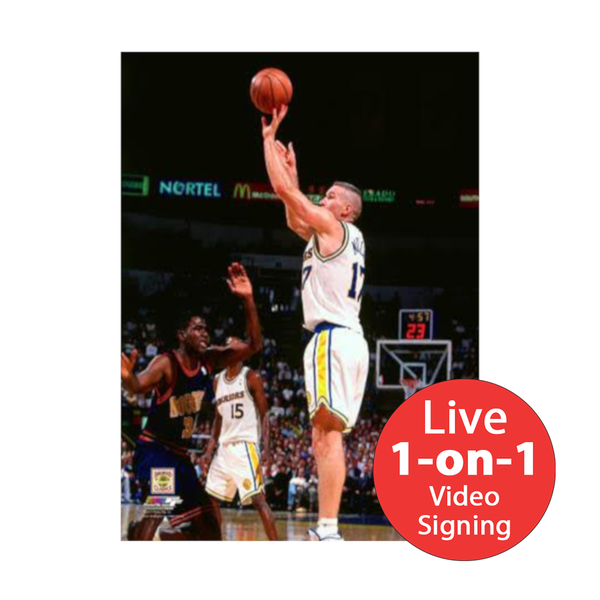 "Chris Mullin LIVE Video Signing 16""x20"" Warriors-W Photo"