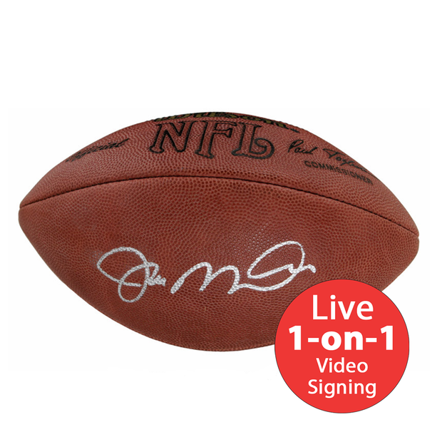 Joe Montana LIVE Video Signing Authentic Football