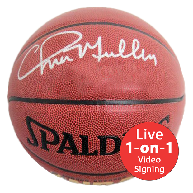 Chris Mullin LIVE Video signing Replica NBA Basketball