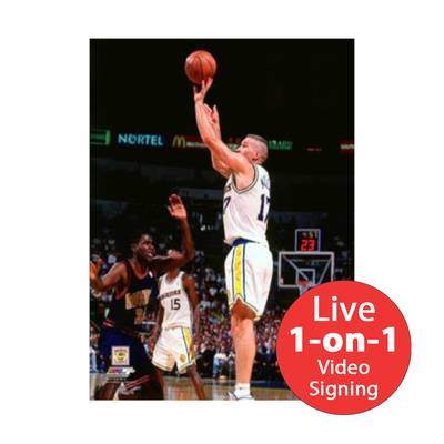"Chris Mullin LIVE Video Signing 8""x10"" Warriors-W Photo"