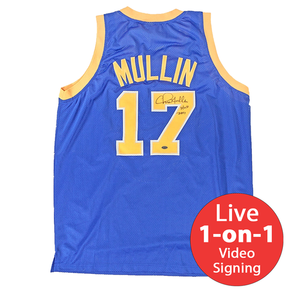best website c123d 7ee0b Chris Mullin LIVE Video signing Authentic Warriors Jersey