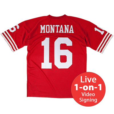 Joe Montana LIVE Video Signing Authentic Jersey