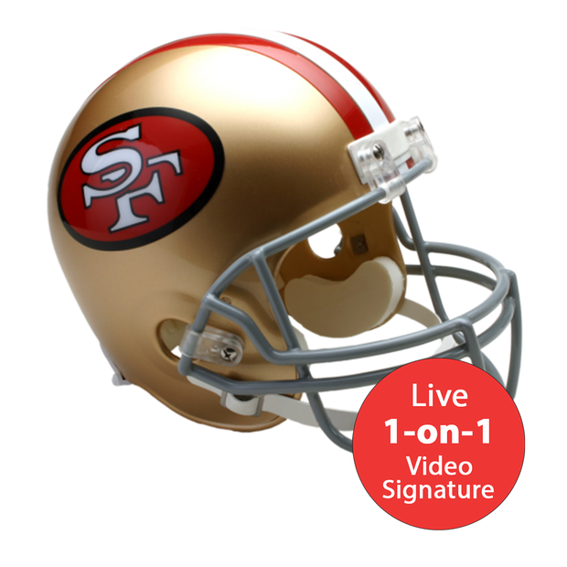 Joe Montana LIVE Video Signing Replica San Francisco 49ers Throwback Helmet