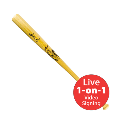 Joe Morgan LIVE Video Signing Bat