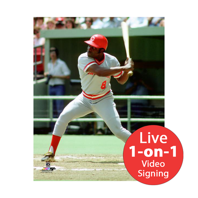 "Joe Morgan LIVE Video signing 8""x10"" Reds BB Photo"