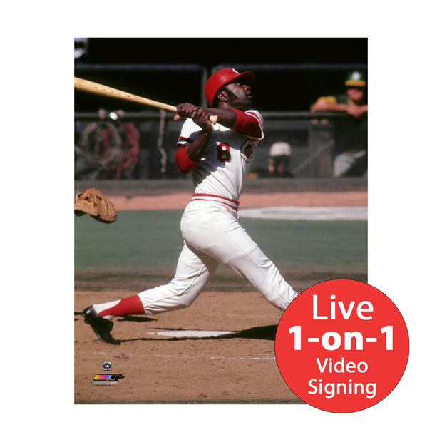 "Joe Morgan LIVE Video signing 8""x10"" Reds Hit Photo"