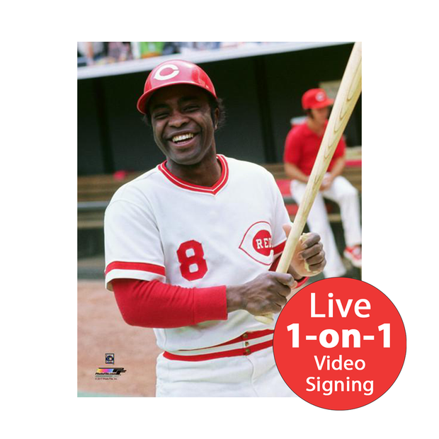 "Joe Morgan LIVE Video signing 8""x10"" Reds BP Photo"