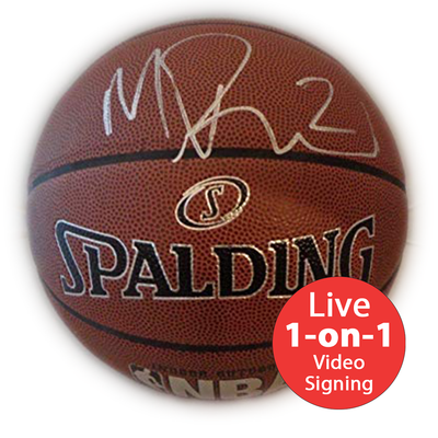 Mitch Richmond LIVE Video Signing Authentic NBA Basketball