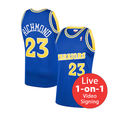 Mitch Richmond LIVE Video Signing Replica Warriors Jersey