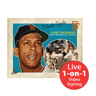 "Orlando Cepeda LIVE Video Signing 8""x10"" Giants Intro Photo"