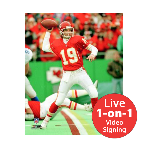 "Joe Montana LIVE Video Signing 8""x10"" Chiefs Photo"