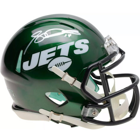 NY Jets Mini Helmet and LIVE Video Signing