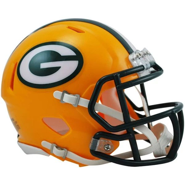Green Bay Mini Helmet and LIVE Video Signing
