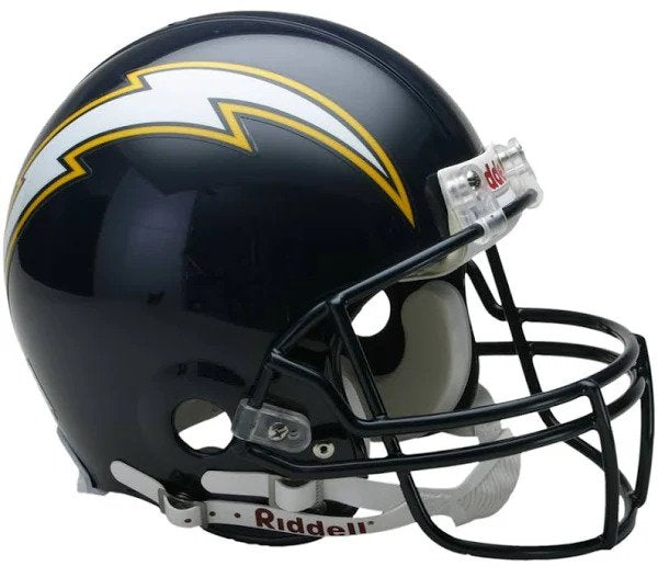 Chargers Navy Mini Helmet and LIVE Video Signing