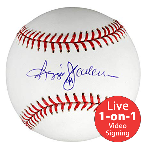 Reggie Jackson LIVE Video Signing Baseball