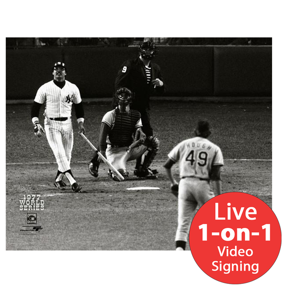 "Reggie Jackson LIVE Video Signing 16""x20"" 77 World Series HR3 Photo"