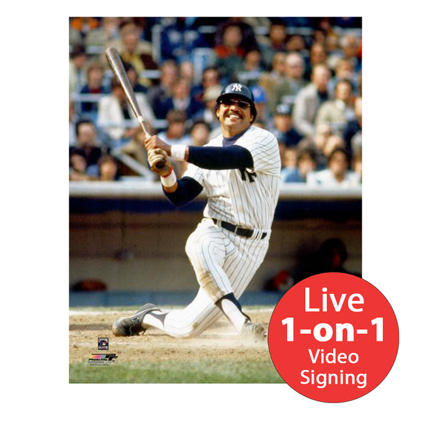 "Reggie Jackson LIVE Video Signing 8""x10"" Yankees Photo"