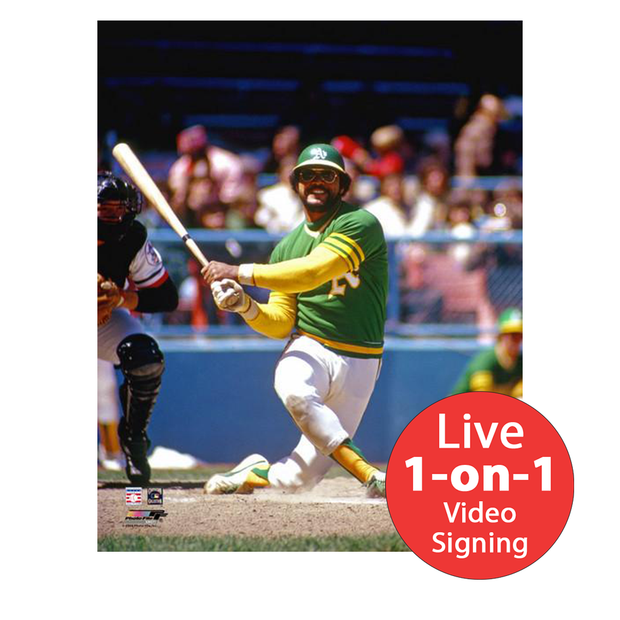 "Reggie Jackson LIVE Video Signing 8""x10"" A's Photo"