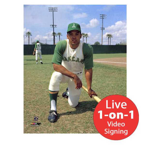 "Reggie Jackson LIVE Video Signing 8""x10"" A's Rookie Photo"