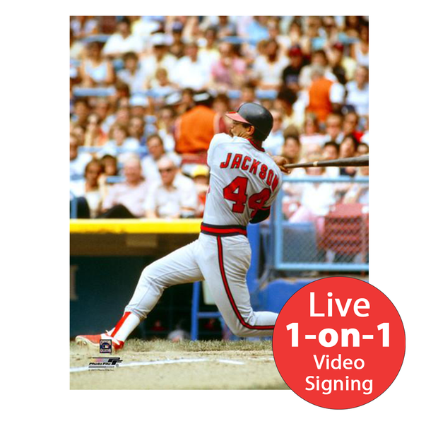"Reggie Jackson LIVE Video Signing 8""x10"" Angels Photo"
