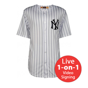 Reggie Jackson LIVE Video Signing Yankees Home Jersey
