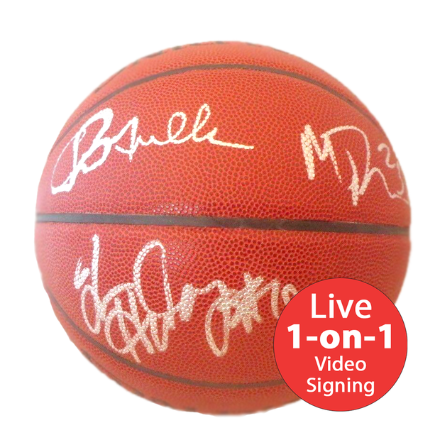 Run TMC LIVE Video Signing Authentic NBA Basketball