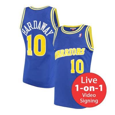 Tim Hardaway LIVE Video Signing Replica Warriors Jersey