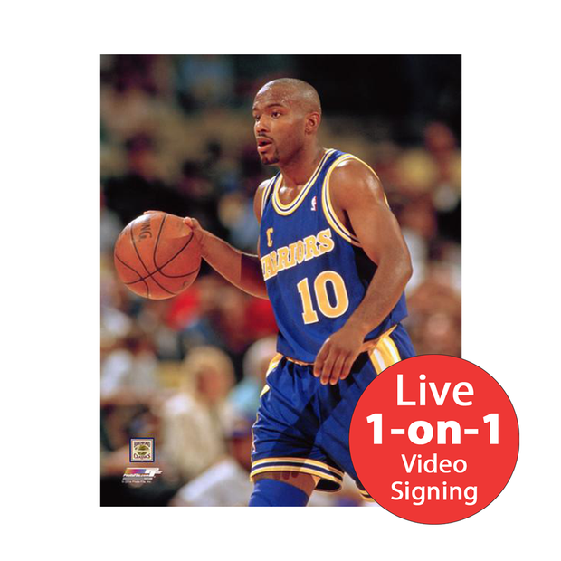 "Tim Hardaway LIVE Video Signing 8""x10"" Warriors-B Photo"