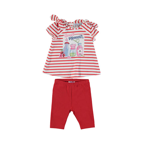 Stripes Legging Set Poppy