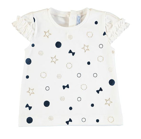 Navy Bows T-Shirt