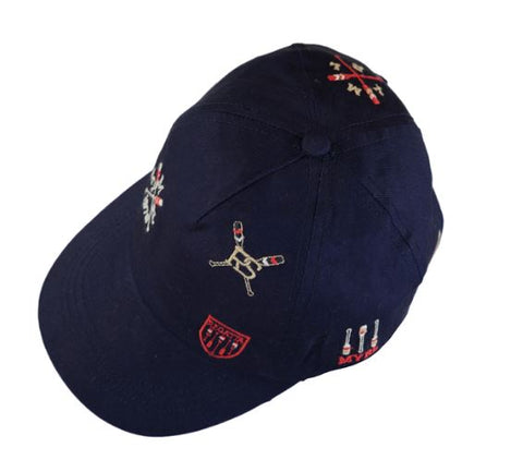 Navy Embroidered Visor