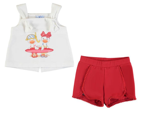 Red Duck Short Set
