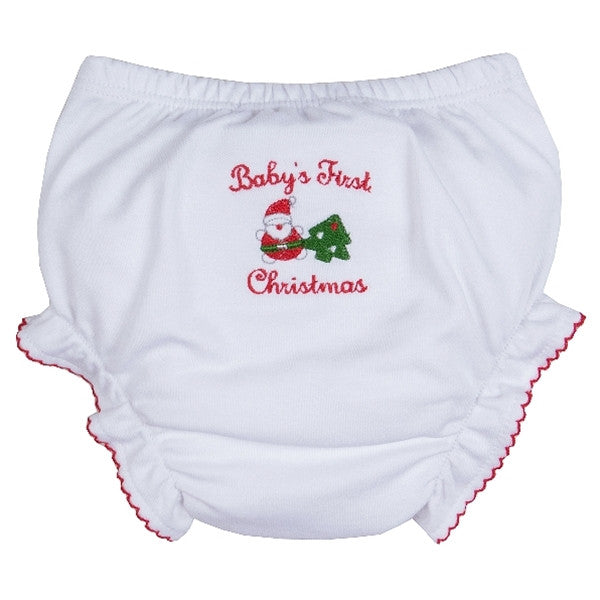 Baby's First Christmas Diaper Cover