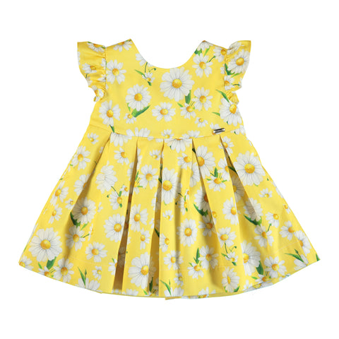 Yellow Daisy Poplin Dress