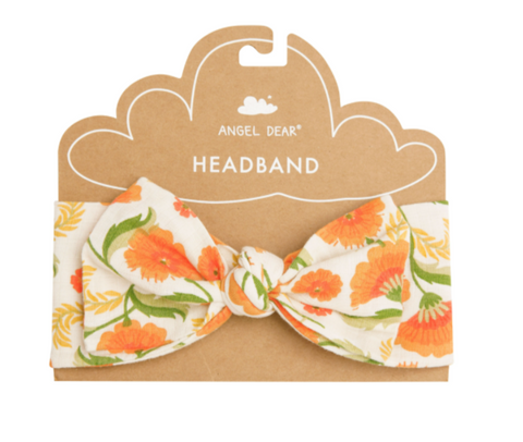 Marigold Swirl Headband Orange