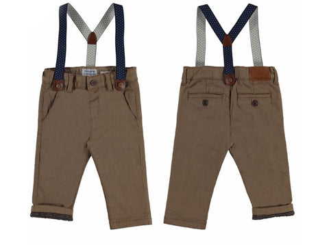 Brown with Suspenders Chino Pants