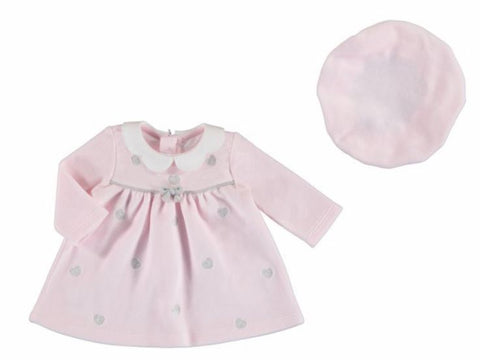 Baby Rose Heart Dress with Hat
