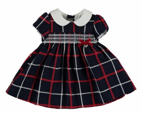 Navy Mayoral Plaid Dress