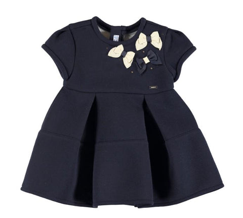 Navy Elastic Dress