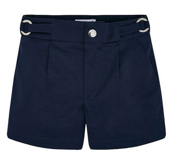 Navy Satin Shorts