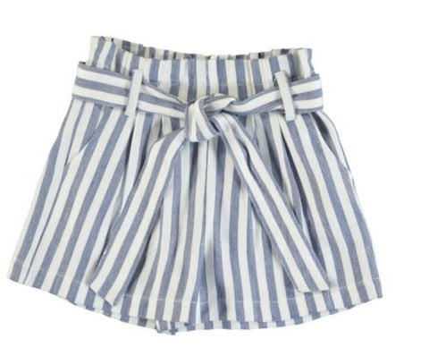 Girls Blue/White Stripe Shorts