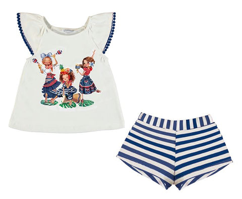 Navy Dancing Girls Set