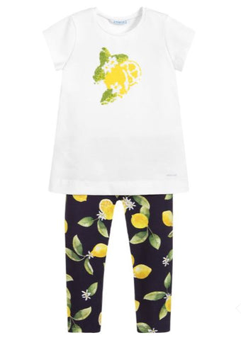 Lemon Leggings Set