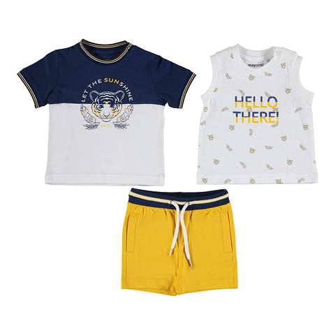 Boys 3 piece Short tiger set