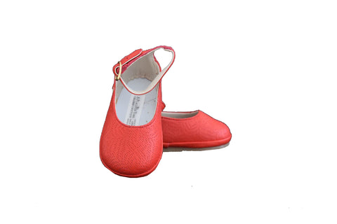 Ariel Red Bracelet Leather Shoes