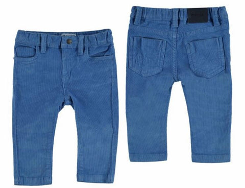 Blue Slim Fit Cord Trousers